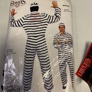 "NWT Charades ""Bad Boy"" Inmate Halloween Costume"
